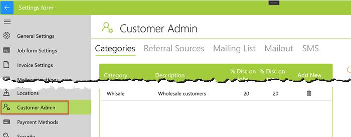 customer administration