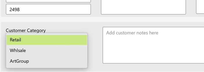 add customer to different categories