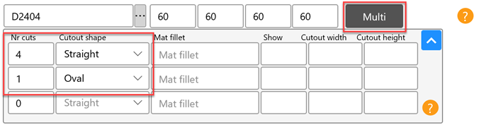 add cutout to jobform