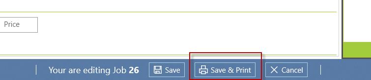 Save edited framing job