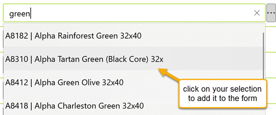 select a framing material