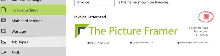 remove letterhead