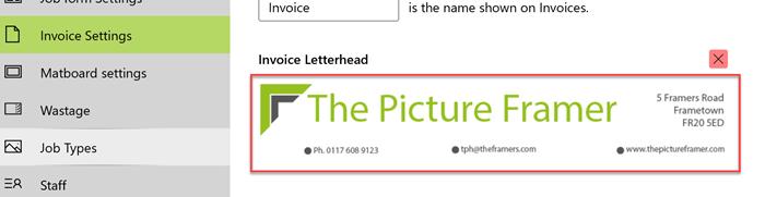 letterhead appears on screen